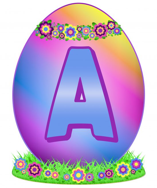 Easter Egg Letter A