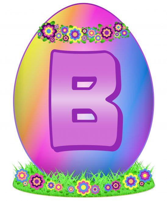 Easter Egg Letter B