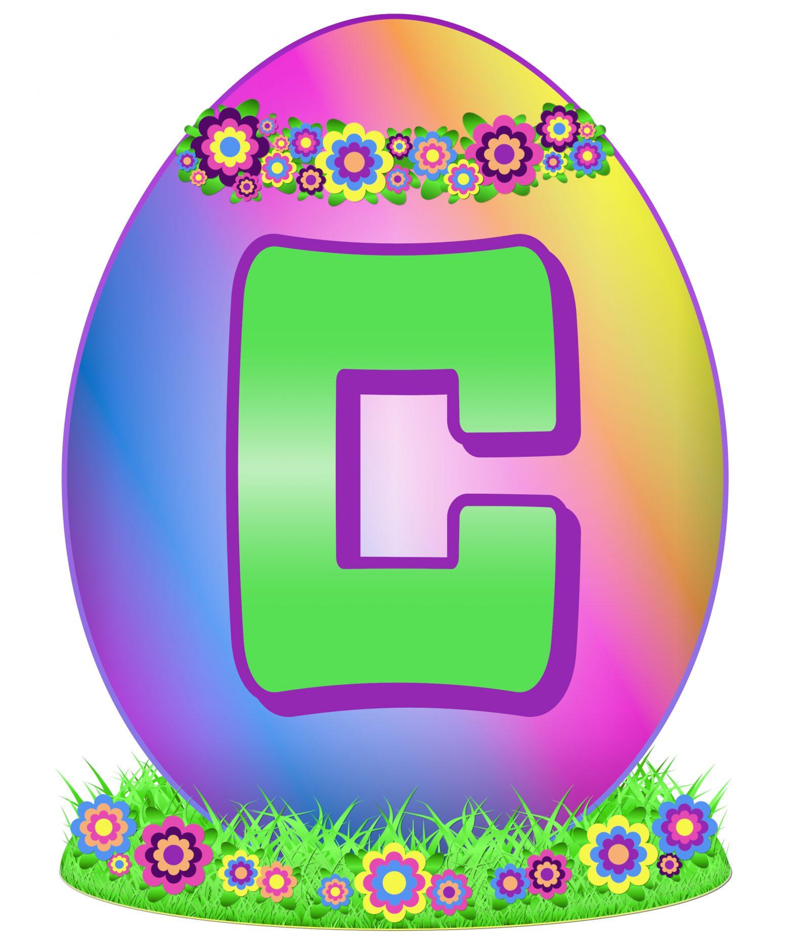 Easter Egg Letter C
