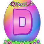 Easter Egg Letter D