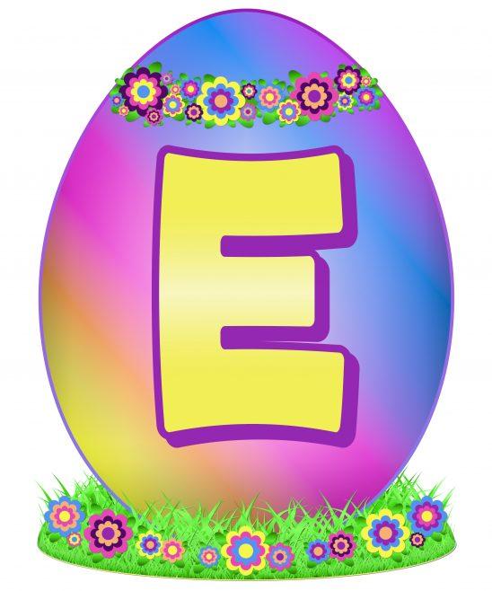 Easter Egg Letter E