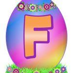 Easter Egg Letter F