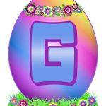 Easter Egg Letter G