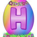 Easter Egg Letter H