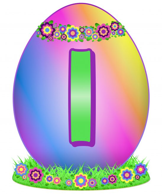 Easter Egg Letter I