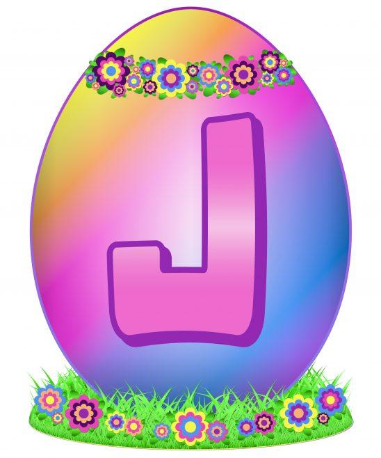 Easter Egg Letter J