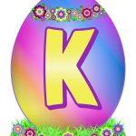 Easter Egg Letter K