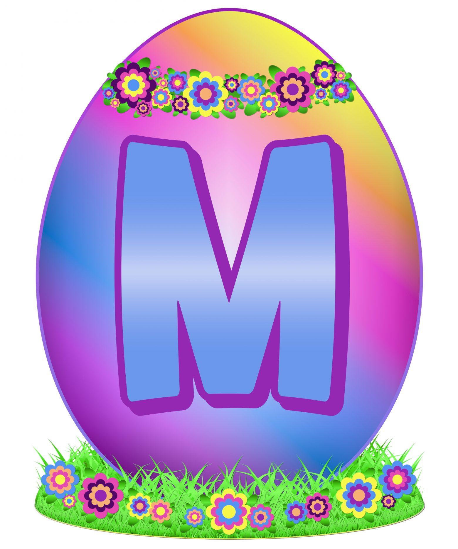 Easter Egg Letter M