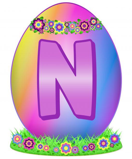 Easter Egg Letter N