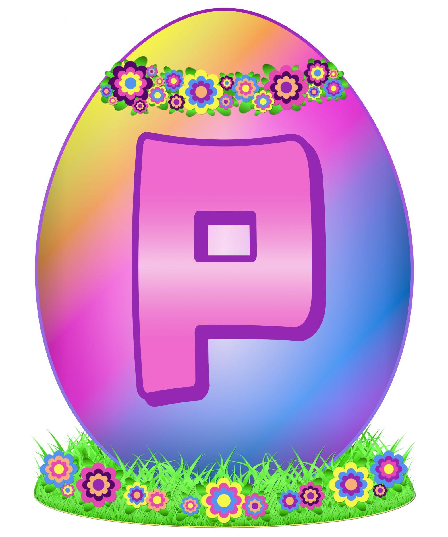Easter Egg Letter P