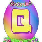 Easter Egg Letter Q