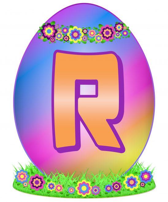 Easter Egg Letter R