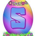 Easter Egg Letter S