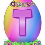 Easter Egg Letter T