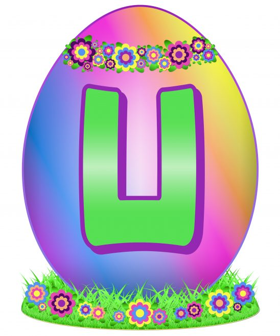Easter Egg Letter U