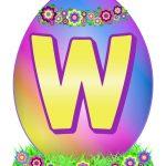 Easter Egg Letter W