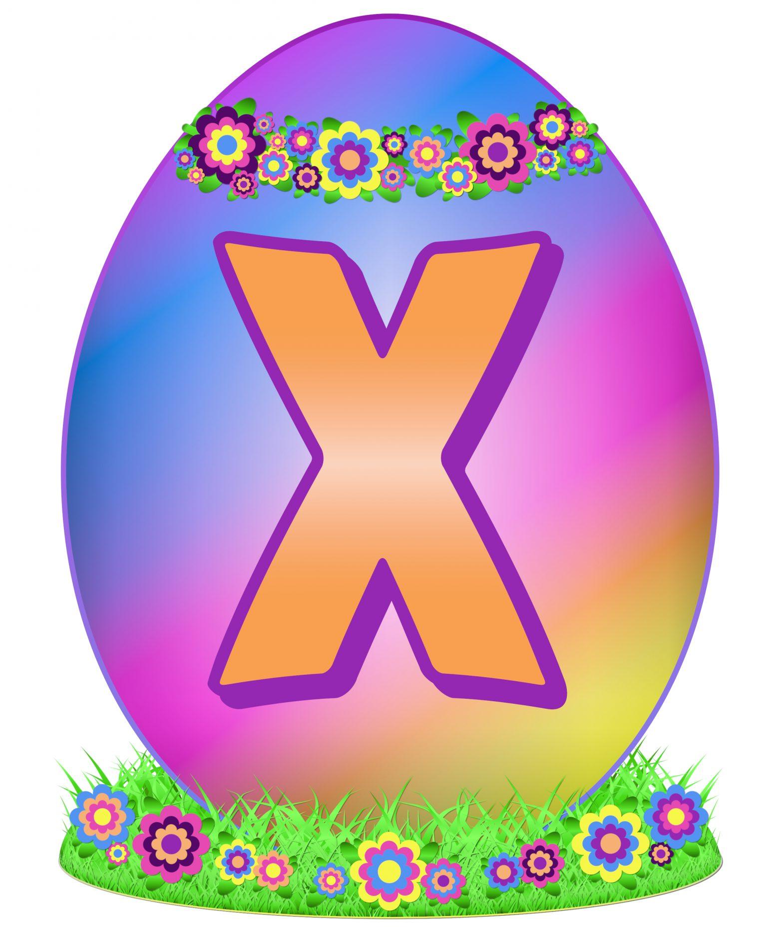 Easter Egg Letter X