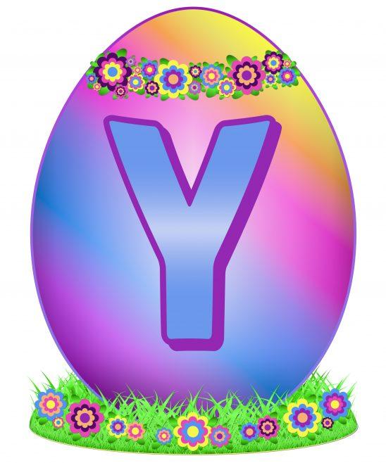 Easter Egg Letter Y