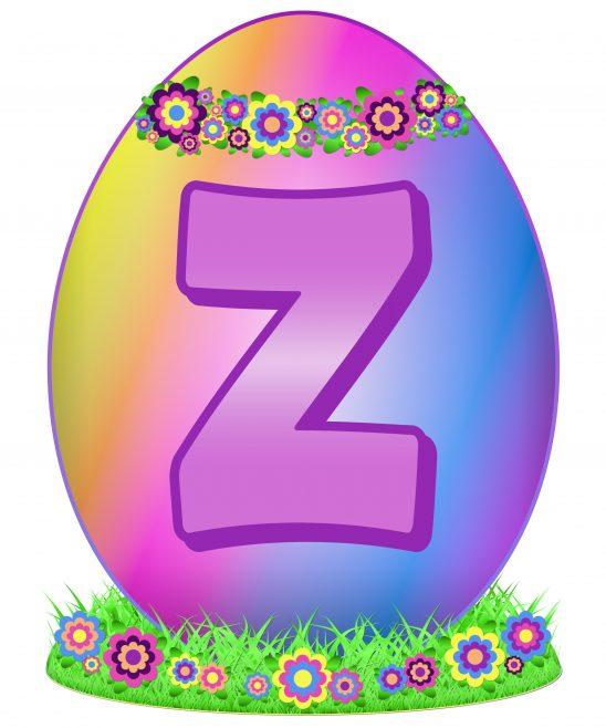 Easter Egg Letter Z