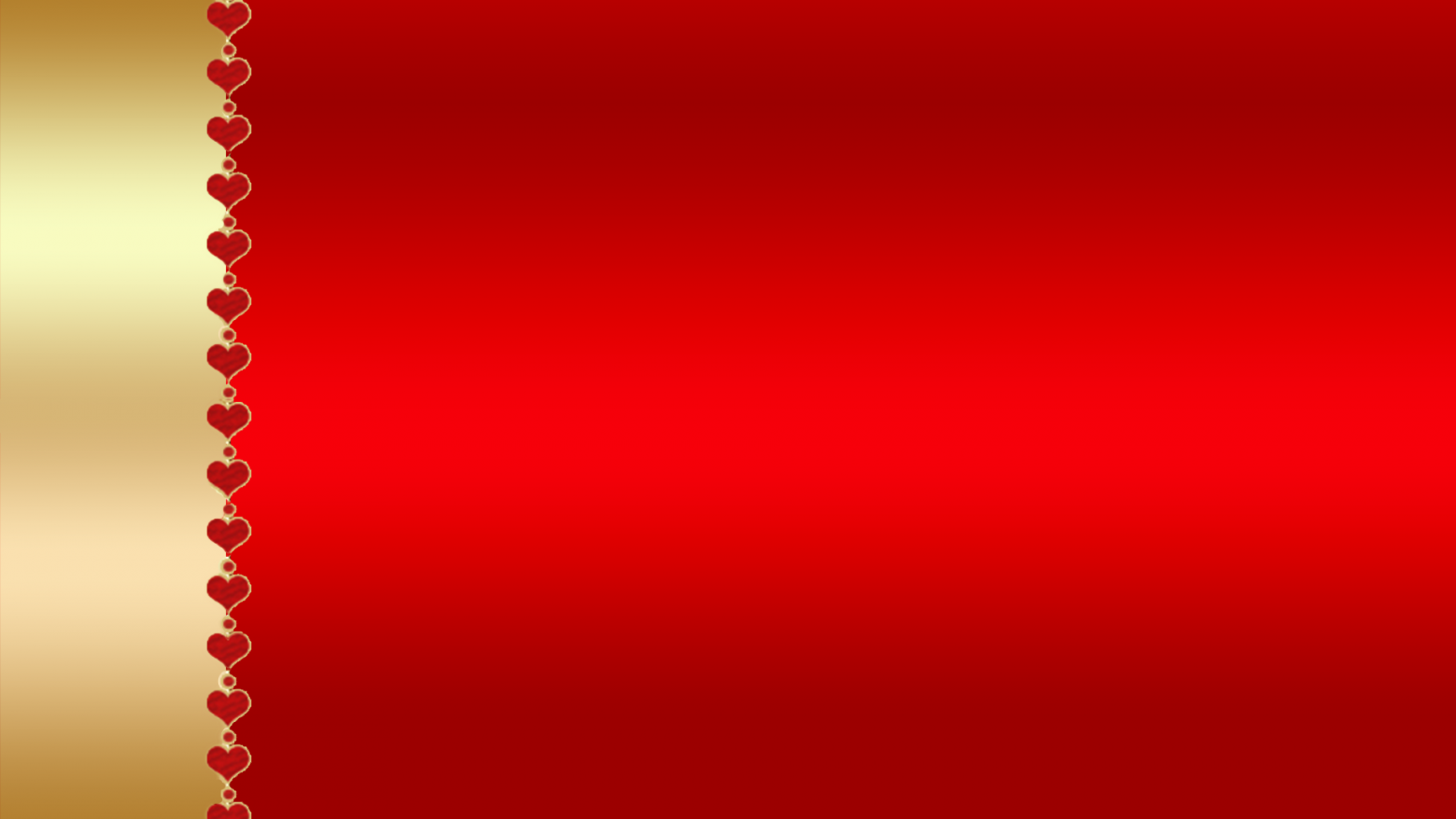 Gold And Red Backgrounds: Red Gold Hearts Background Wallpaper Design